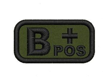 Nášivka krevní skupina B pos