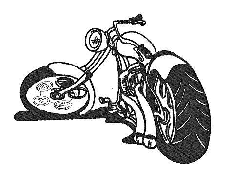 Výšivka Motorka 6