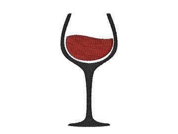 Výšivka sklenička